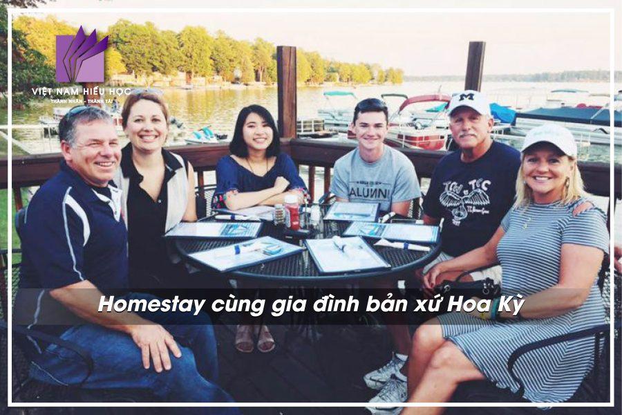 Homestay cùng gia đình bản xứ Hoa Kỳ