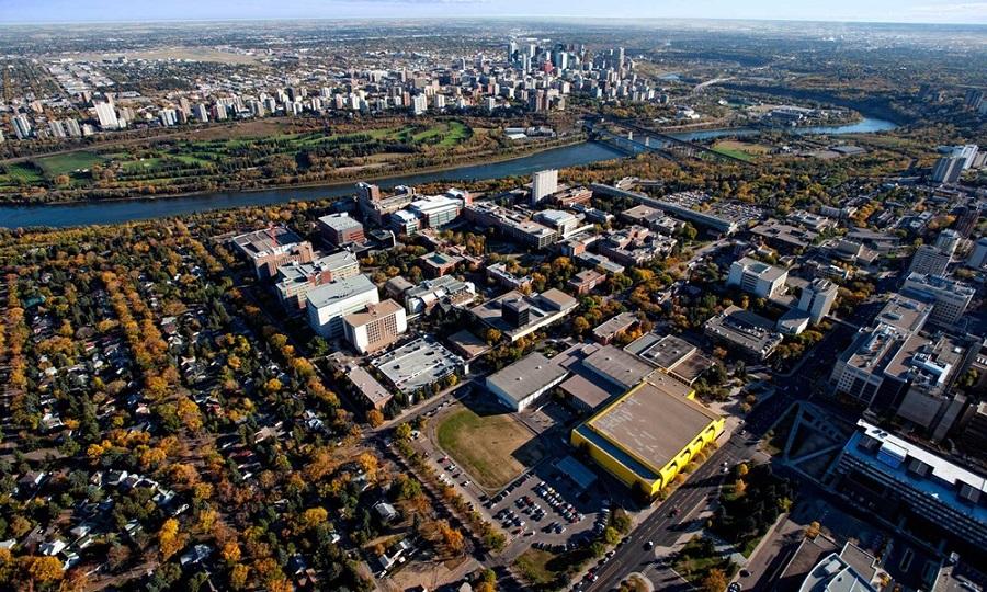 Học bổng du học Canada - Toàn cảnh 1 khuôn viên Đại học Alberta
